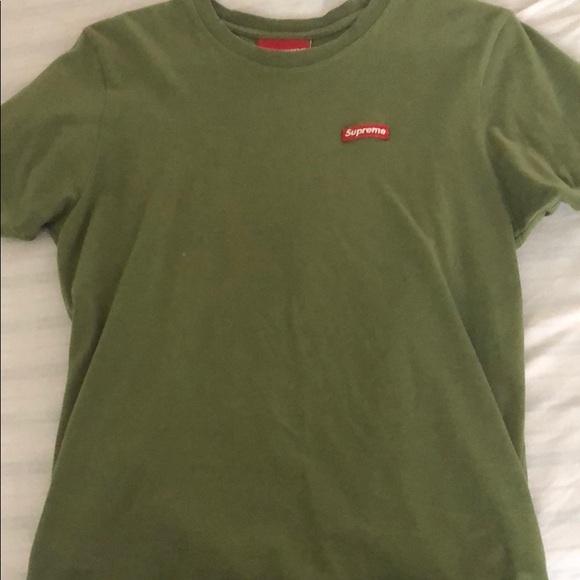 supreme t shirt green